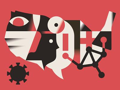 How to pandemic-proof America healthcare vektorgrafik illustration vector editorial magazine print health covid pandemic