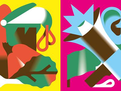 Don't waste food + get loud magazine illustration vektorgrafik vector illustration print magazine