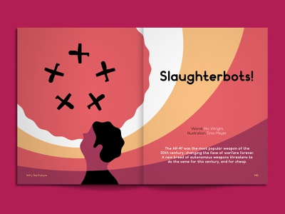 Drones artificial intelligence vector illustration drones magazine print editorial