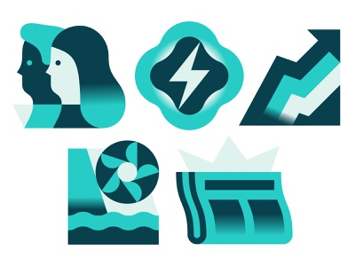 Hydropower! vector illustration icons electricity energy hydropower