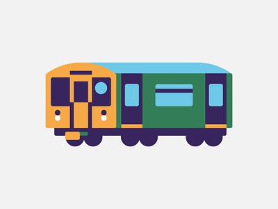 Subway subway wagon u-bahn vector illustration icon vektorgrafik