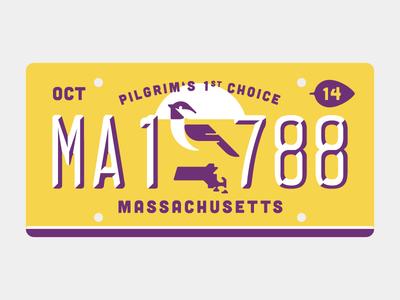 Pilgrim's 1st Choice massachusetts state bird plate illustration vector vektorgrafik chickadee