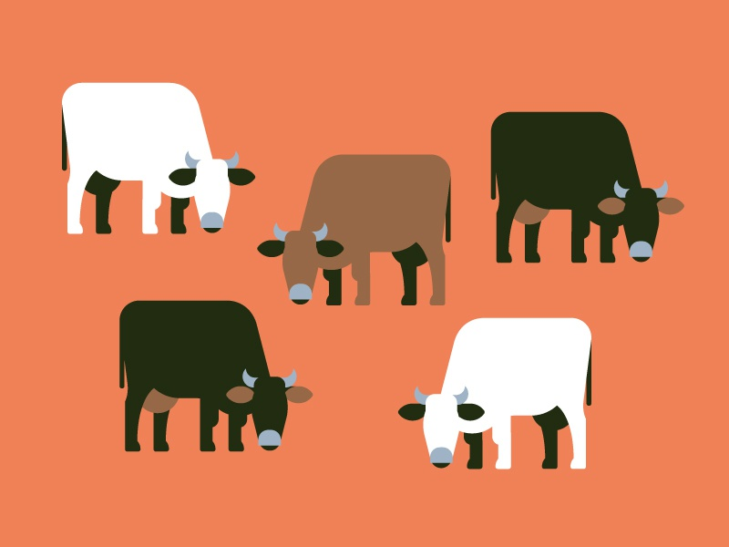 Cows vektorgrafik vector illustration pattern animal cow
