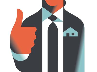 Estate agent approves illustration vektorgrafik vector immobilien real estate realtor estate agent