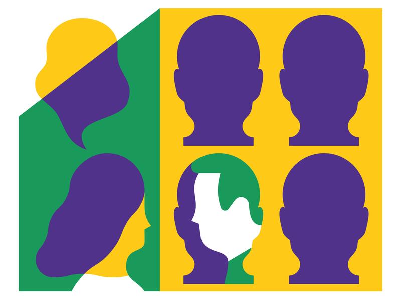 Human to Human magazine print editorial vektorgrafik vector illustration character human contacts communication