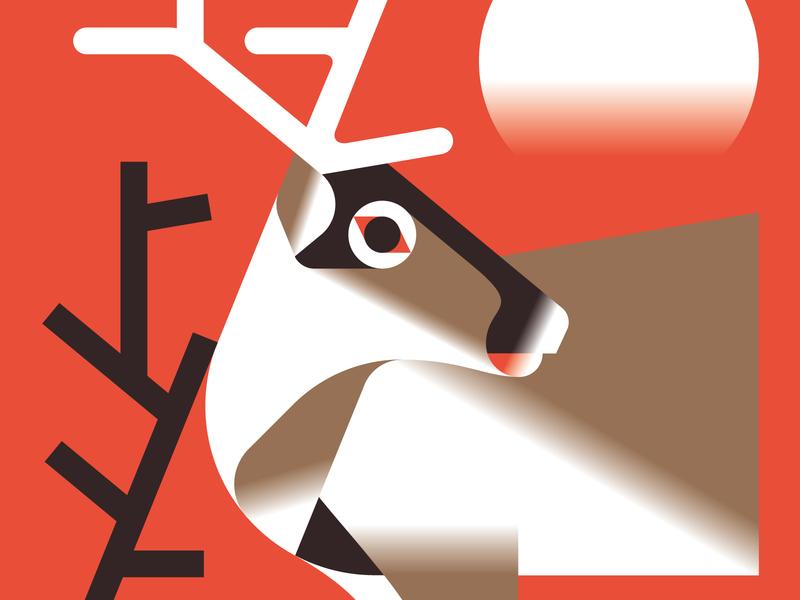 Reindeer vektorgrafik vector illustration winter animal reindeer