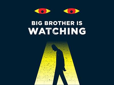 1984 (1) illustration poster bigbrother vector georgeorwell 1984
