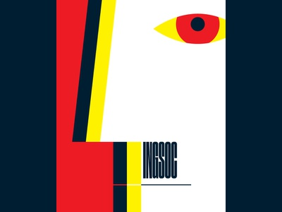 1984 (2) graphicdesign vector illustration vector ingsoc georgeorwell poster bigbrother 1984
