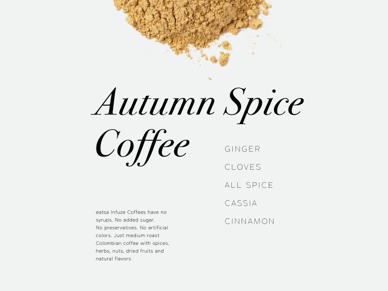 Autumn Spice type layout coffee