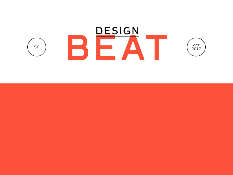 Design Beat san francisco layout email masthead typography red