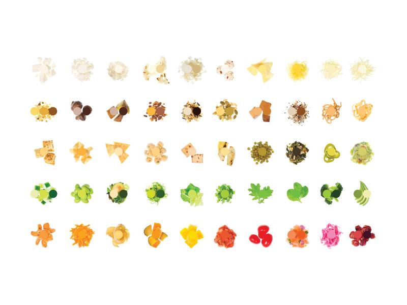 Food Color Study circle colors food