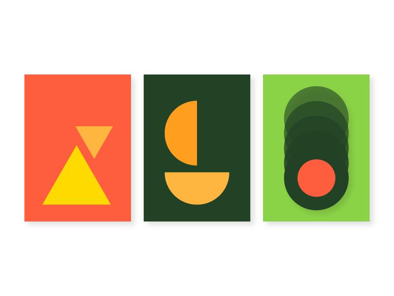 Color Study I geometric shapes color