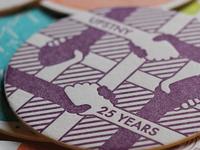 Coaster Design for AIGA UPSTNY
