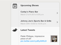 Twitter and Facebook Events Feed