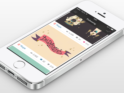 Dribbble App iOS7 flat ios7 app dribbble dribbble app ios 7 2x @2x retina