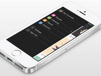 Dribbble App (iOS7) - Sidebar View