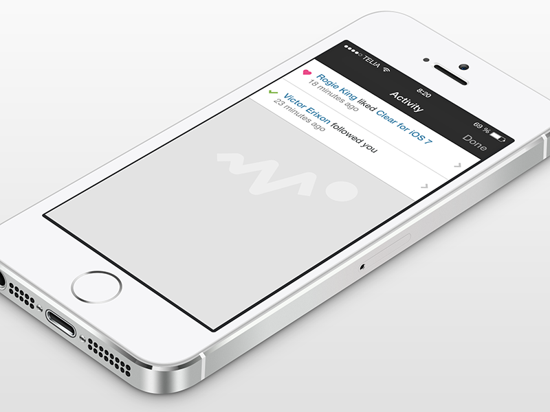 Dribbble for iOS 7 - Activity View app ios7 dribbble retina 2x @2x ios 7 dribbble app flat activity activity view