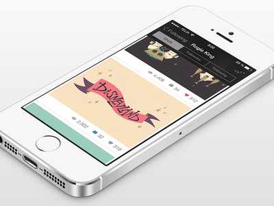 Dribbble for iOS 7 - Profile View profile view profile flat dribbble app ios 7 @2x 2x retina dribbble ios7 app