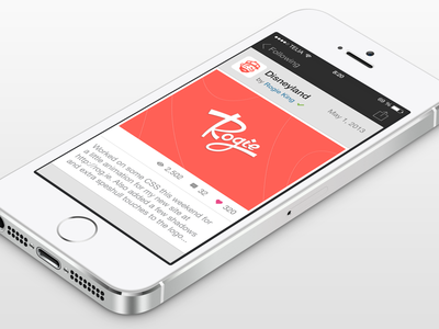 Dribbble for iOS 7 - Shot View