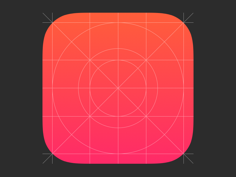 Ios 7 App Icon Grid Sketch Template By Henrik Dribbble Dribbble