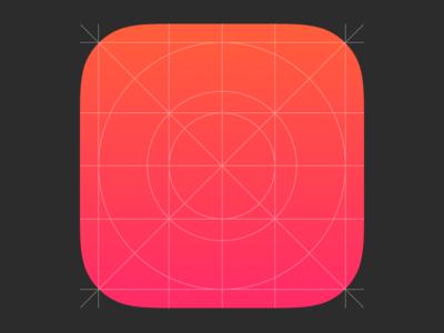 iOS 7 App Icon & Grid - Sketch Template