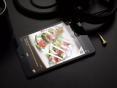 SIMI digital menu photos tablet ipad restaurant food app menu