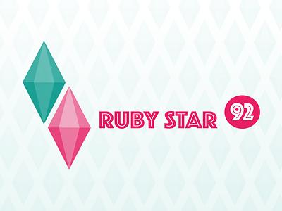 RubyStar 92 streamer stream diamond sims twitch logo