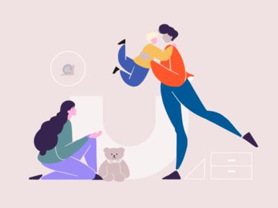 Joy at home branding 设计 插图 平面 animation vector flat illustration design