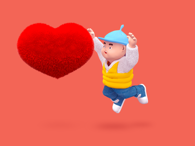 Spring Festival- love c4d 一家人 设计 插图 平面 animation vector flat illustration design