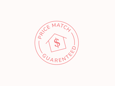 Price Match Badge illustration line icon flat trust sticker pricing price match badge logo
