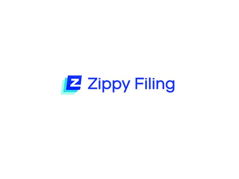 Zippy Filing Logo type simple logotype logo letters identity font flat branding legal llc