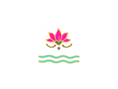 Lotus Mark logo high-vibe hot pink spiritual water logo mark illustration lotus