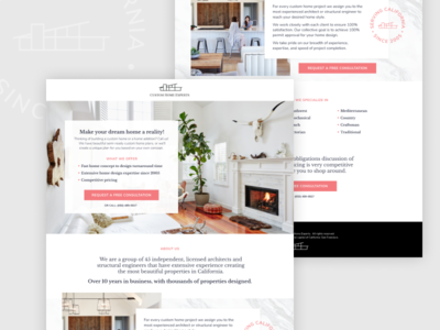 Architectural Landing Page