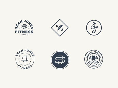 SJ Logo Explorations sports gym illustration logotype freelance type cross fit fitness branding