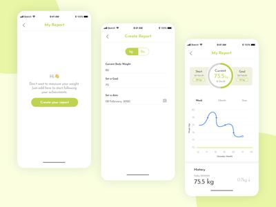 Fitness App Concept Design - Work in progress
