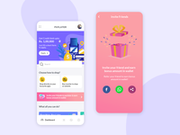 Paylater App with Invite a friend screen