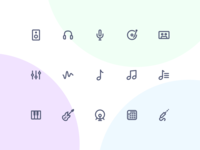 Jollycons - Audio - Icon Set
