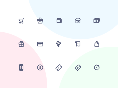 Jollycons - Ecommerce - Icon Set