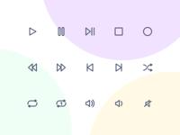 Jollycons - Media Controls - Icon Set