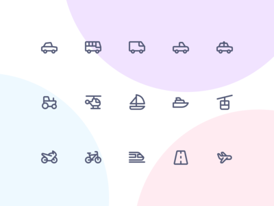 Jollycons - Transport - Icon Set