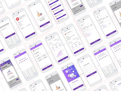 Harvest Fintech App mobile ui modern hiflow mobile ux