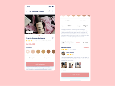Beauty Product Ecommerce ecommerce app beauty product uidesign mobile ui