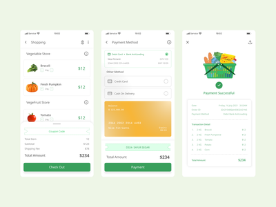 Grocery App Transaction Section grocery ui design ui design grocery uiux grocery mobile app ui grocery transaction section transaction grocery mobile grocery