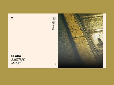 Clara Bathod Malat PORTFOLIO (WIP) graphic design arts website photography typography ui home portfolio