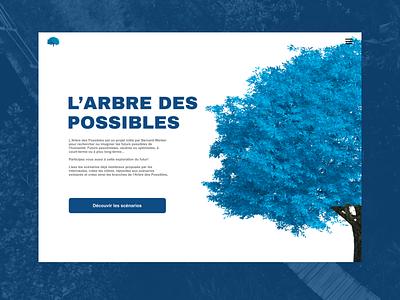 L'arbre des possibles blue concept design graphic design ui books redesign