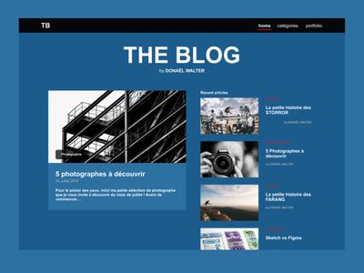 My personal Blog blogging black blue photography graphic design ui blog