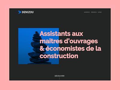 DENIZOU REDESIGN architecture black blue branding design graphic design company portfolio