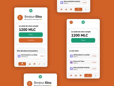 Neymo - App #1 branding hetic school project money figma mobile ui mobile app