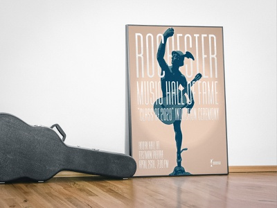 Rochester Music Hall of Fame / Poster theatre ceremony creative design poster hall of fame musical music rochester