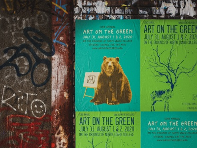 Art on the Green posters (The Urban Green Project) art direction animals street art print artwork urban festival poster festival art on green art